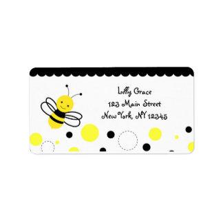 Manosee las etiquetas del remite de la abeja etiqueta de dirección