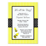 Manosee las invitaciones rayadas abeja de la anuncio