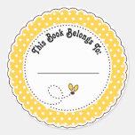 Manosee los Bookplates de la lectura de la abeja Pegatinas