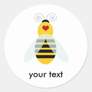 manosee los cuties de la abeja pegatina redonda