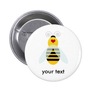 manosee los cuties de la abeja pin redondo 5 cm