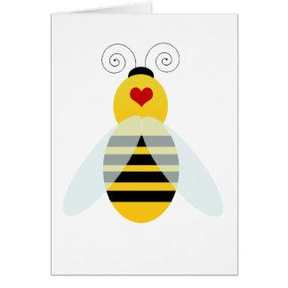 manosee los cuties de la abeja tarjeta de felicitación