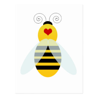 manosee los cuties de la abeja tarjetas postales