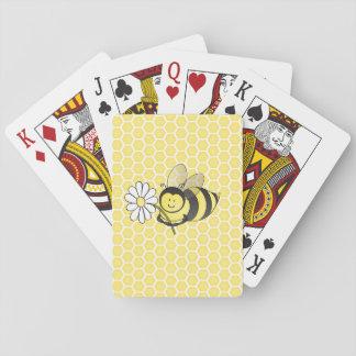 Manosee los naipes de la abeja barajas de cartas