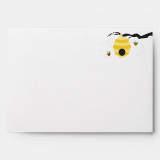 Manosee los sobres de las abejas