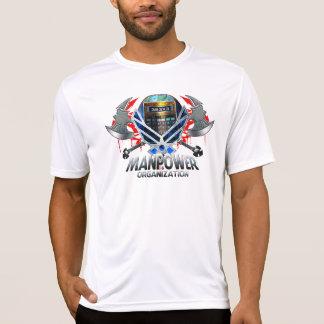Manpower calculator axe tee shirt