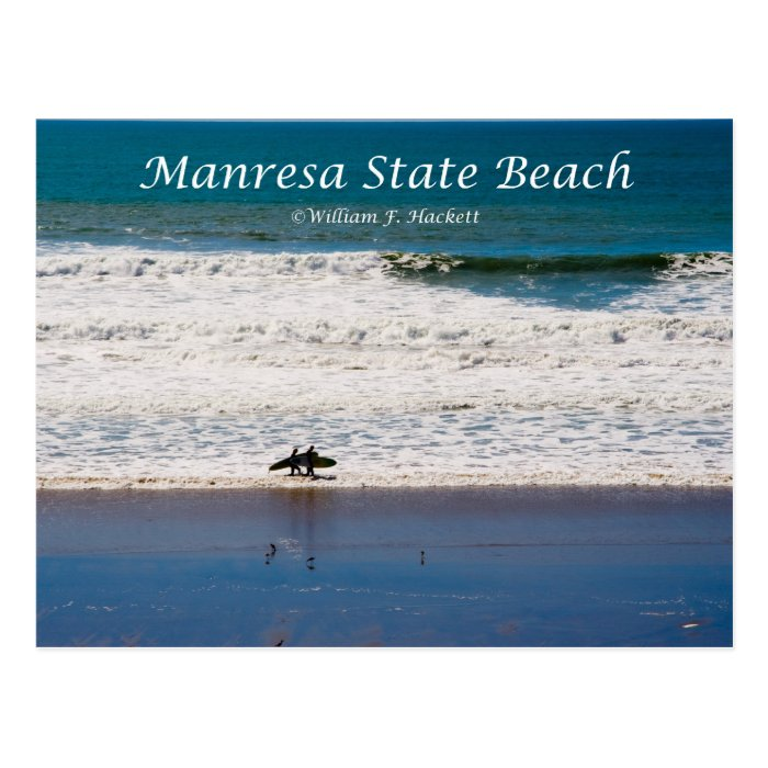Manresa State Beach Surfers California Products Postcard