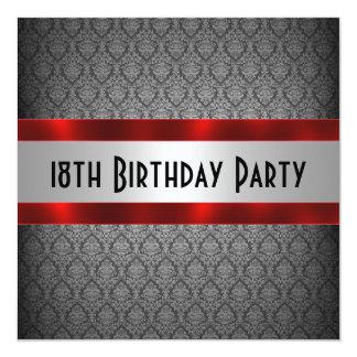 """Man's 18th Birthday Invitation 5.25"""" Square Invitation Card"""