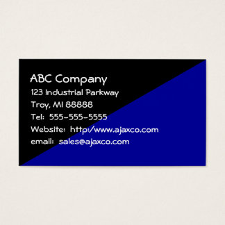 Man's All Purpose Business Card Black & Navy Blue