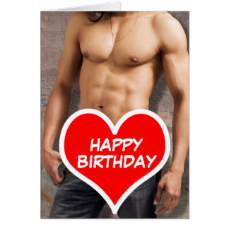 Man's Bare Chest Happy Birthday Greeting Card