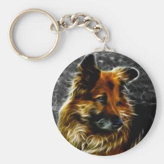 Man's Best Friend #3 Basic Round Button Keychain