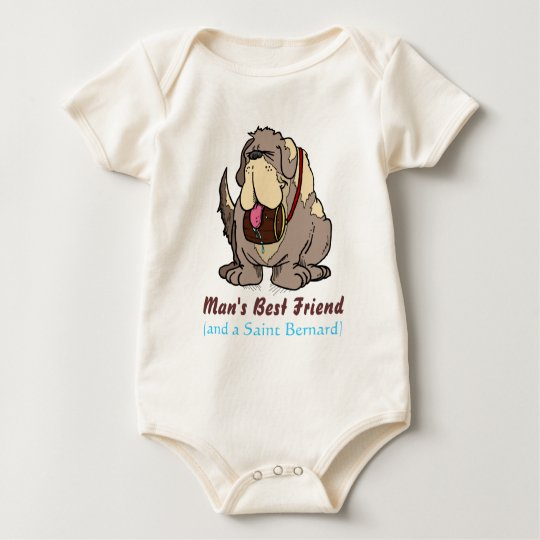 Man's Best Friend Baby Bodysuit