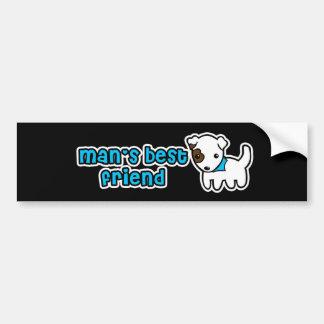 Man's best friend bumper sticker car bumper sticker
