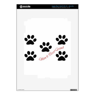 Man's best friend decal for iPad 3