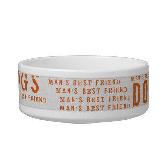 mans best friend dog bowl