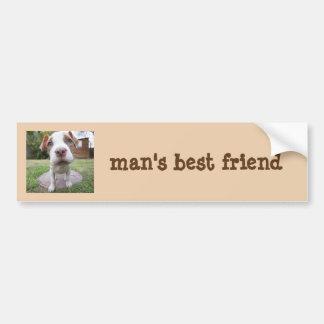 Mans best friend dog bumper sticker car bumper sticker
