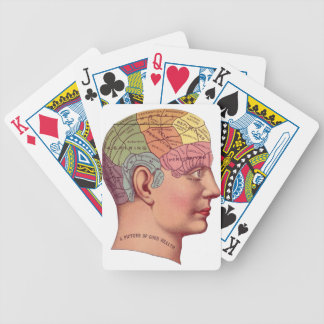 mans brain bicycle playing cards