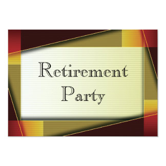 "Mans Classic Retirement Party 5"" X 7"" Invitation Card"