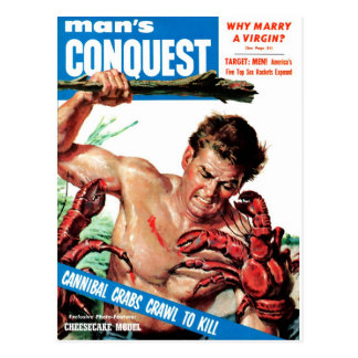 Man's Conquest - Cannibal Crabs Postcard