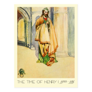 Man's Costume Of The Time Of Henry I Postcard