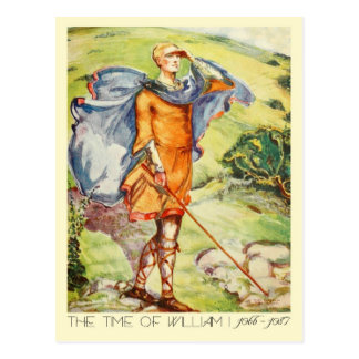 Man's Costume Of The Time Of William I Postcard