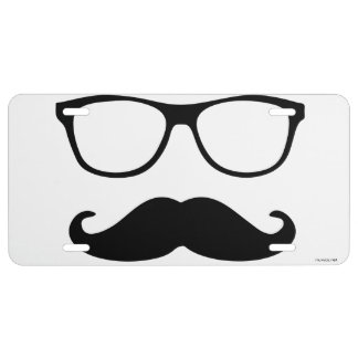 Man's Disguise License Plate