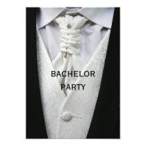 Mans Elegant Suit Bachelor Party Card