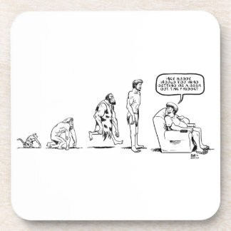 Man's Evolution Drink Coaster