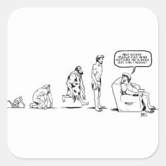 Man's Evolution Square Sticker