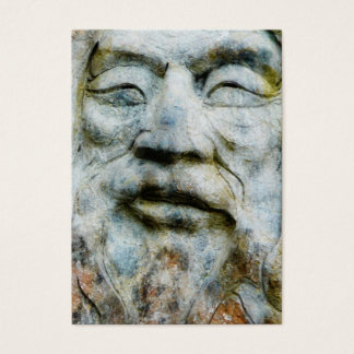 Man's Face Carved and Set in Stone Business Card