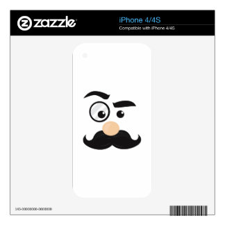 Mans Face iPhone 4S Skins