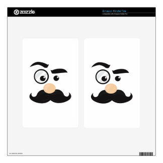 Mans Face Kindle Fire Decals