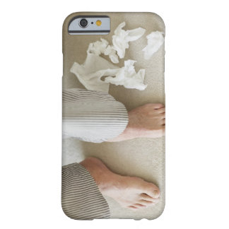 Man's feet surrounded by crumpled tissues barely there iPhone 6 case