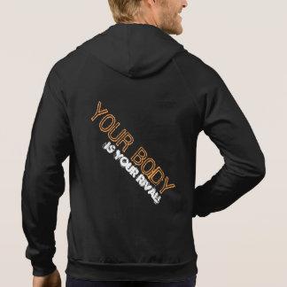 Man's Fitness sleeveless zip hoodie