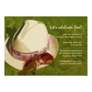 """Man's Hat Father's Day Invitation 5"""" X 7"""" Invitation Card"""
