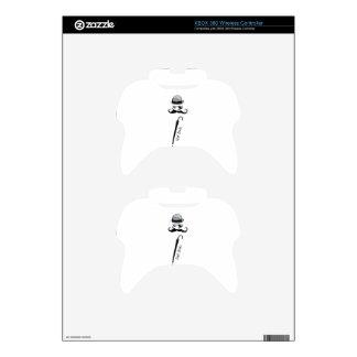 "Man's Hat Mustache Umbrella ""cool dude"" Xbox 360 Controller Skins"