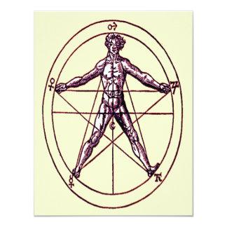 Man's *Magical Pentagram* Symbol Custom Invites