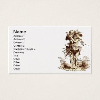 Man's Man Thanksgiving Business Card