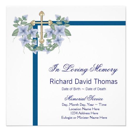Memorial Service Invitation Wording – Memorial Service Invitation Wording
