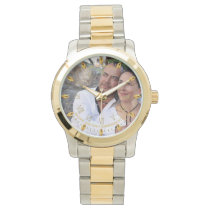 Mans PHOTO Watch 25th 50th Husband ANY Anniversary