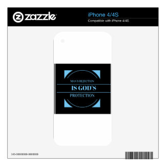 man's rejection is God's protection iPhone 4S Decal