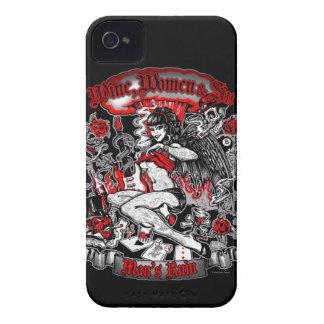 Man's Ruin: Wine Women & Sin iPhone 4 Covers