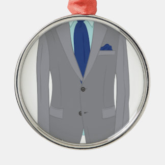 Mans Suit Metal Ornament
