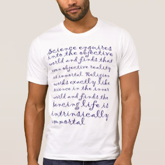 Man's T-shirt Osho. Science enquires