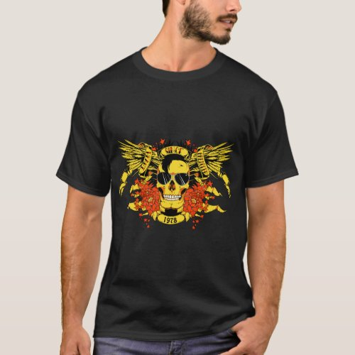 Mans T_shirt with head of death