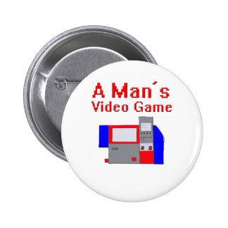 Man's Video Game Pin