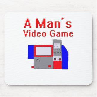 Man's Video Game Mouse Pad