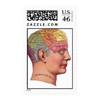 mans vintage head shot postage stamp