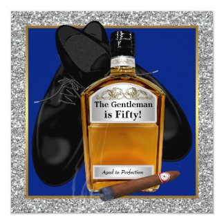 Mans Whiskey Aged To Perfection Birthday Party Card