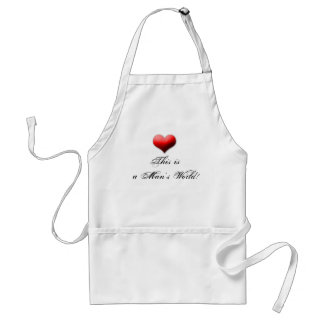 mans worl adult apron